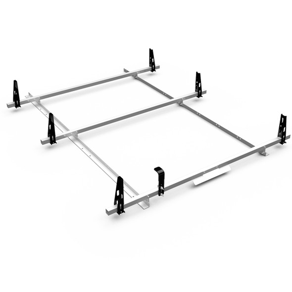 Adrian Steel 3BFT-W 3 Bar Utility Rack, White