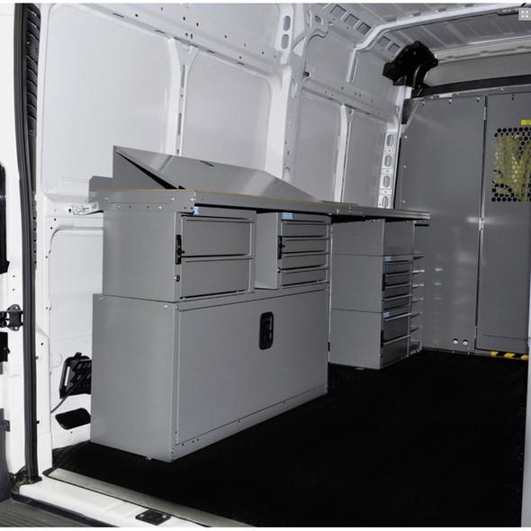 "Adrian Steel #5274 Locksmith Starter Package, Gray, ProMaster, 136"" , 159"""