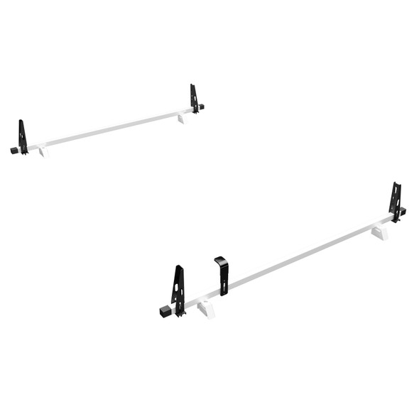 Adrian Steel #2BPM-W 2-Bar Utility Rack, White, ProMaster Low Roof