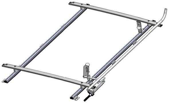 "Adrian Steel #61-TCL19 Single Grip Lock Ladder Rack, Transit Connect, 120"""