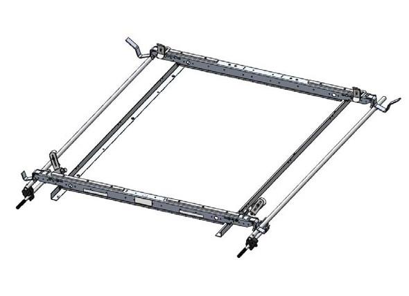 Adrian Steel #63-GLNVL2 Dual-Sided Grip Lock Ladder Rack, NV Low Roof