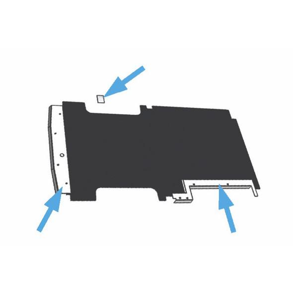 Adrian Steel #88-TKFT Trim Kit for Workmat, 107w x 0.5h x 67.5d, Transit