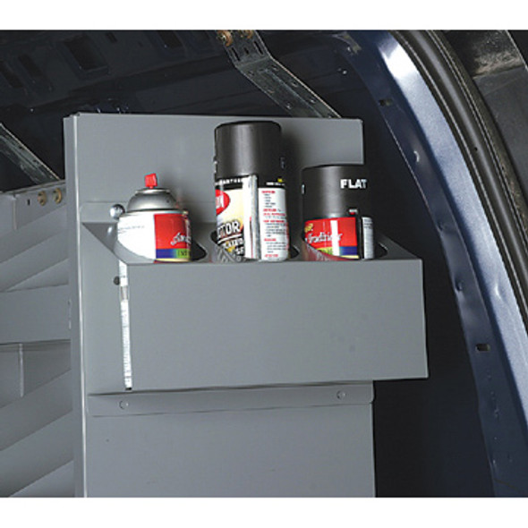 Adrian Steel #ACT4 4-Place Aerosol Can Holder, 15.5w x 6.8h x 4d, Gray