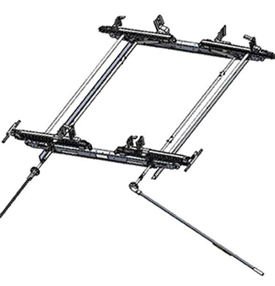 """Adrian Steel #DD63PMHEXT Dual-Sided Drop Down Ladder Rack, ProMaster High Roof Extended, 159"""" Ext."""