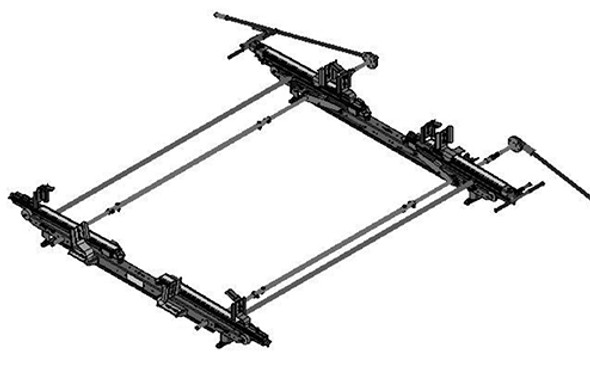 Adrian Steel #DDLR63FTH Dual-Sided Drop Down Ladder Rack, Transit High Roof