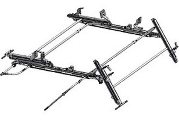 "Adrian Steel #DDLR63FTL Dual-Sided Drop Down Ladder Rack , Transit Low Roof, 130"" , 148"""