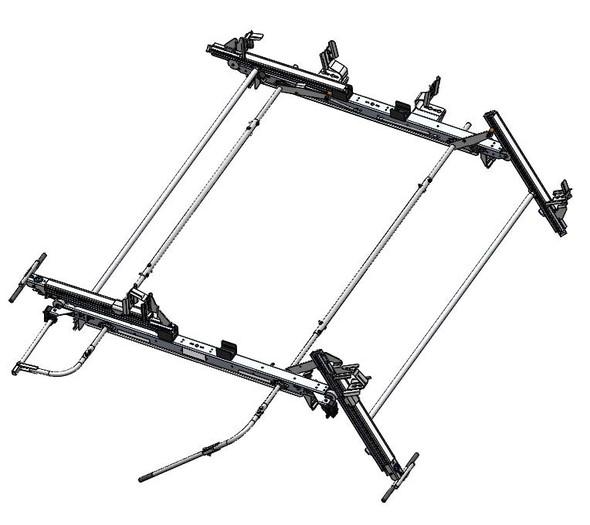 Adrian Steel #DDLR63GM2 Dual-Sided Drop Down Ladder Rack, Express, Savana