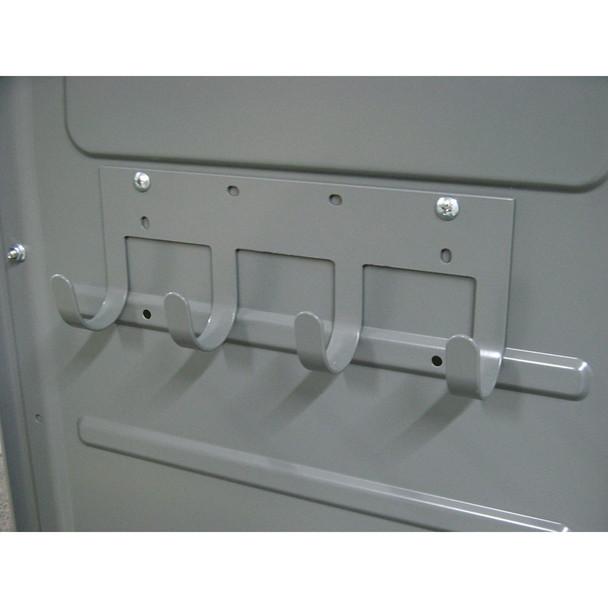 Adrian Steel #TA1 4-Hook Bar, 12w x 4.5h x 2.2d, Gray