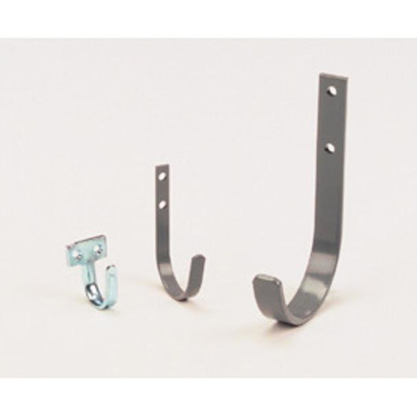 Adrian Steel #UH25 Utility Hook, 2.5'', 0.5w x 4.3h x 2.3d, Gray