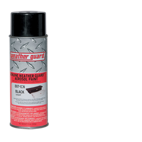 WeatherGuard Model 887-1CN Black aerosol touch-up paint (12 ounce aerosol)