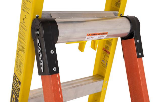 "Werner LDP7306 - 6' ""LEANSAFE X3"" Fiberglass Ladder | Type IAA 375 lb. Rating"