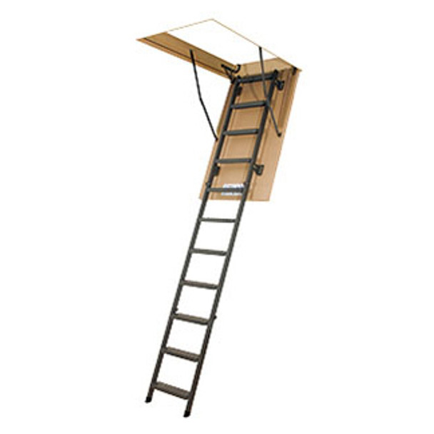 """Fakro LMS 66869 Metal Attic Ladder  30"""" x 54"""" Opening 