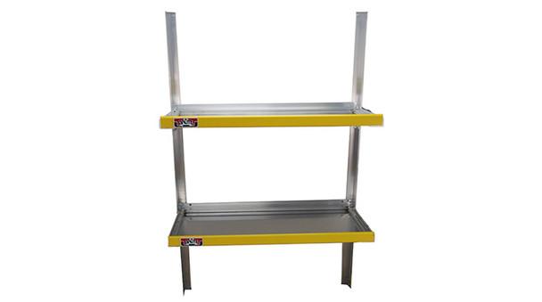 "Unique HFS2448 Folding Shelf Assembly | 24"" Deep x 48"" Long "" | Universal fit | 2 Shelves per assembly"