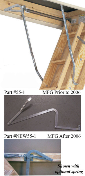 Werner 55-1 Attic Ladder Spreader Arm (PAIR) MFG. Overall dimension is 29 1/2 inches
