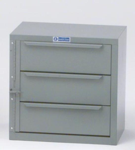 Adrian Steel #8 / 3-Drawer Unit, 18W X 18H X 11.9D, Gray