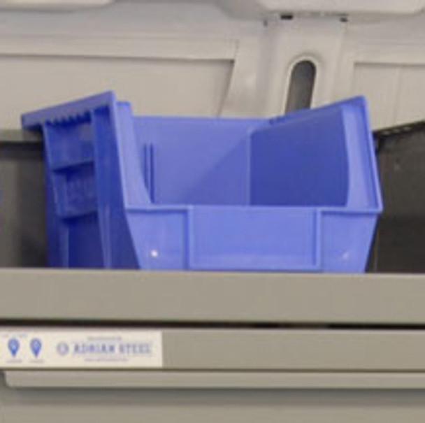 Adrian Steel #28 / Parts Bin, 8.3W X 7H X 10.8D, Blue