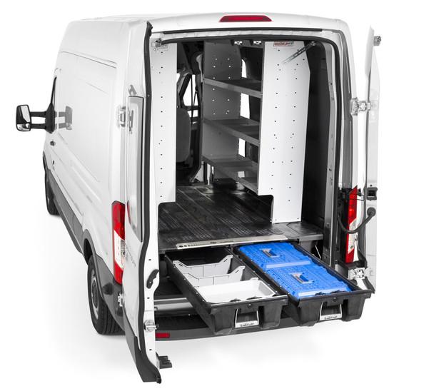 """DECKED Drawer System VNFD13TRAN65 - Ford Transit (2014-current) - Excludes extended model Bed Length 148"""" Color: Black"""
