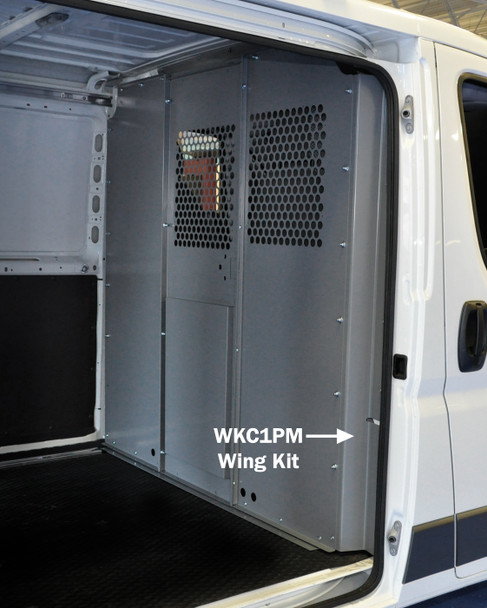 Adrian Steel #WKC1PMR Steel Partition Retro Mounting Kit, Gray, ProMaster