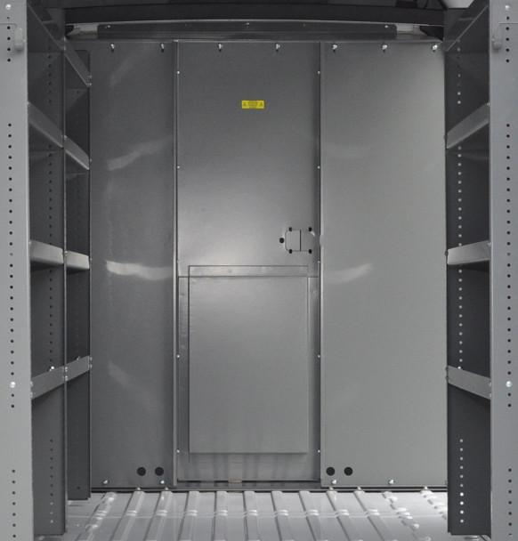 Adrian Steel #S1M1HC1PM Steel Partition Panel Kit w/ Door Kit, Gray, Multiple Vehicles