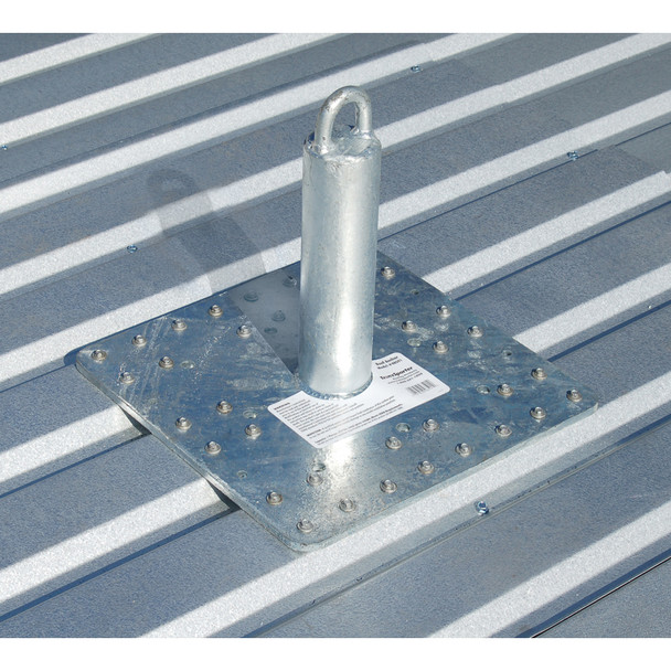 TranzSporter 48591 Commercial Steel Roof Anchor / Capacity 310 lb. Worker and Tools