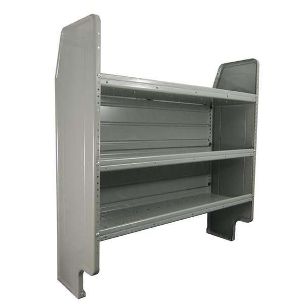 Adrian Steel #AD50FP Adjustable 3-Shelf Unit , 50w x 46h x 14d, Gray