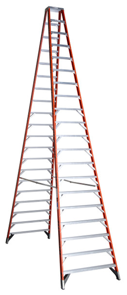 Werner T7400 Series Twin Sided Fiberglass Stepladder | 375 lbs Rated (*)