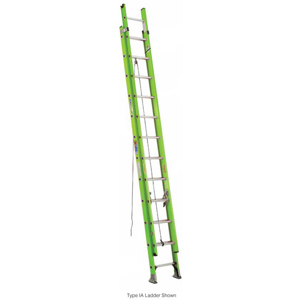 "Werner D6200 ""HIGH VISIBILITY"" Series Fiberglass Extension Ladder 300 lb. Rating"