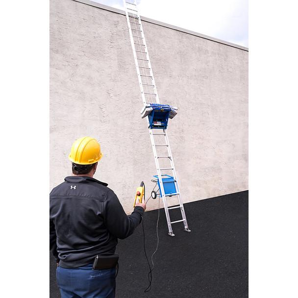 Safety Hoist Platform Hoist 28 ft. w/ Electric Motor - 250 lb. Capacity