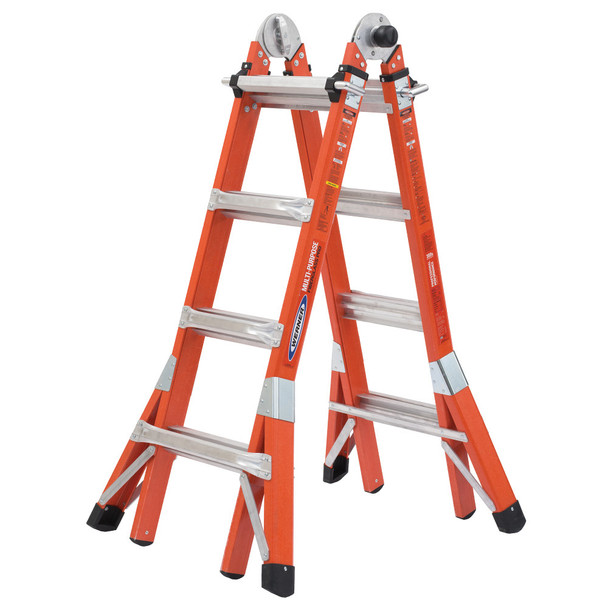 Werner FMT - PRO Series Fiberglass Multi-Position Ladder Type IA 300 lb. Duty Rating
