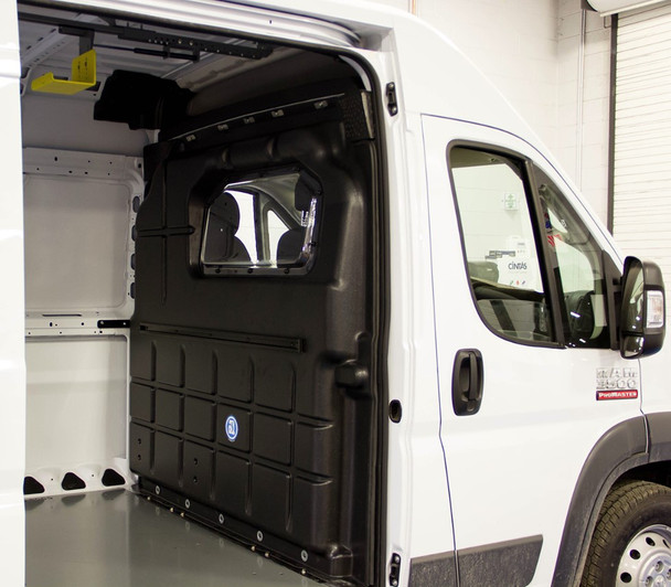 Adrian Steel Company #PARPM 53847 Composite Partition w/ Window | RAM ProMaster Low & High Roof