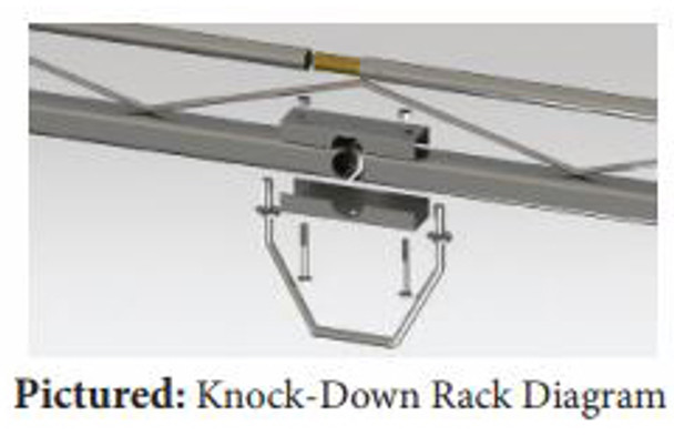 """Topper #458120 10' Knocked-Down Van Rack w/60"""" Crossbars - 2015 & up Ford Transit Van with 130"""" WB - Med/Low Roof"""