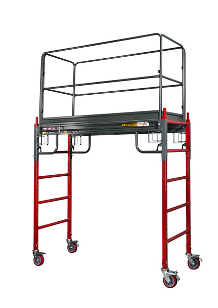 PRICE JUST REDUCED - SAVE OVER 40% | MetalTech #I-BMSS 6' to 12' BUILDMAN Heavy Duty Scaffold | 1500 lb. Capacity