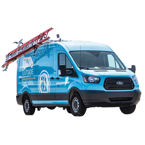Adrian Steel #DDLR61FTM Passenger Side Drop Down Ladder Rack, Transit Mid Roof