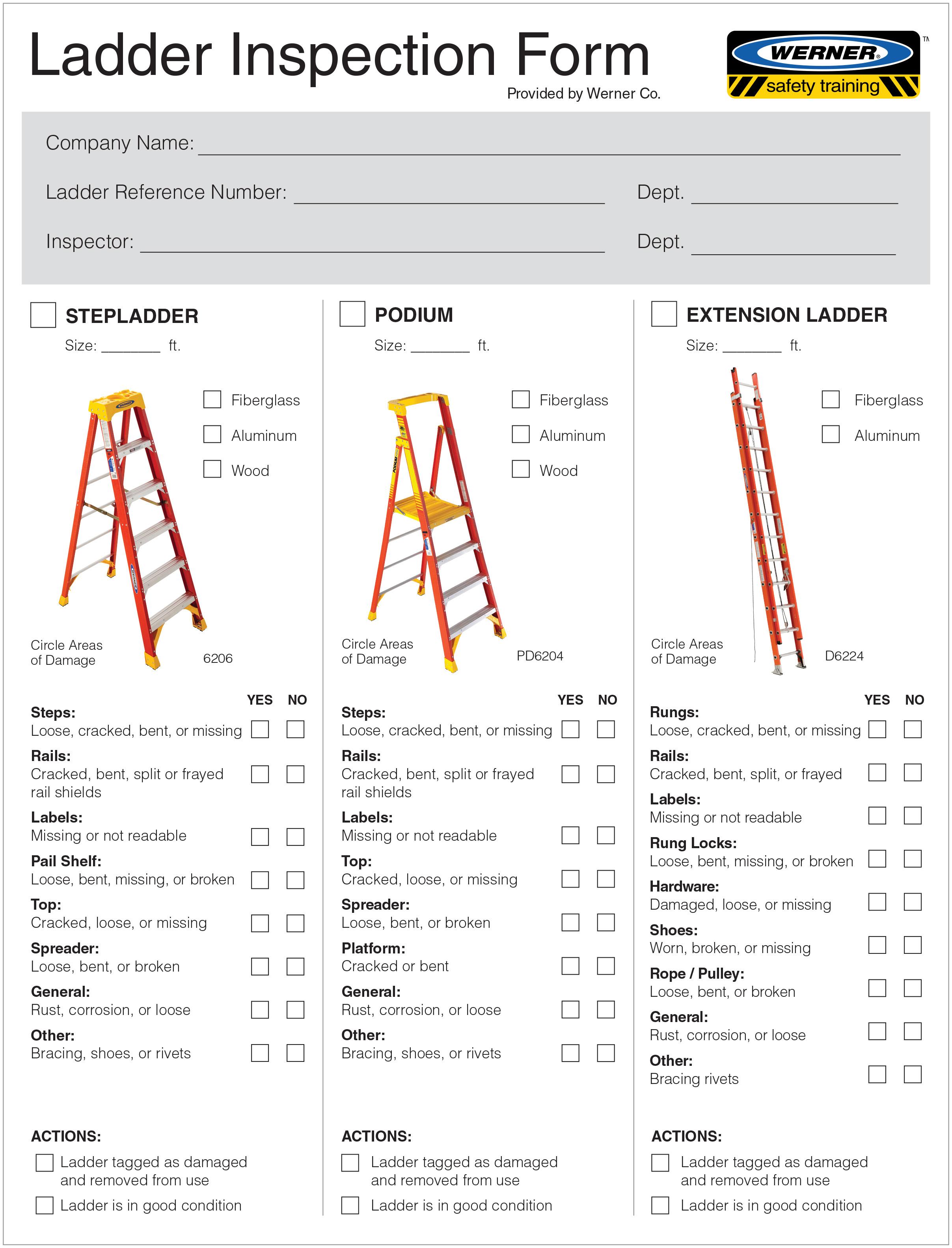 Ladders - *** Ladder Information - Ladder Inspection Video & Form