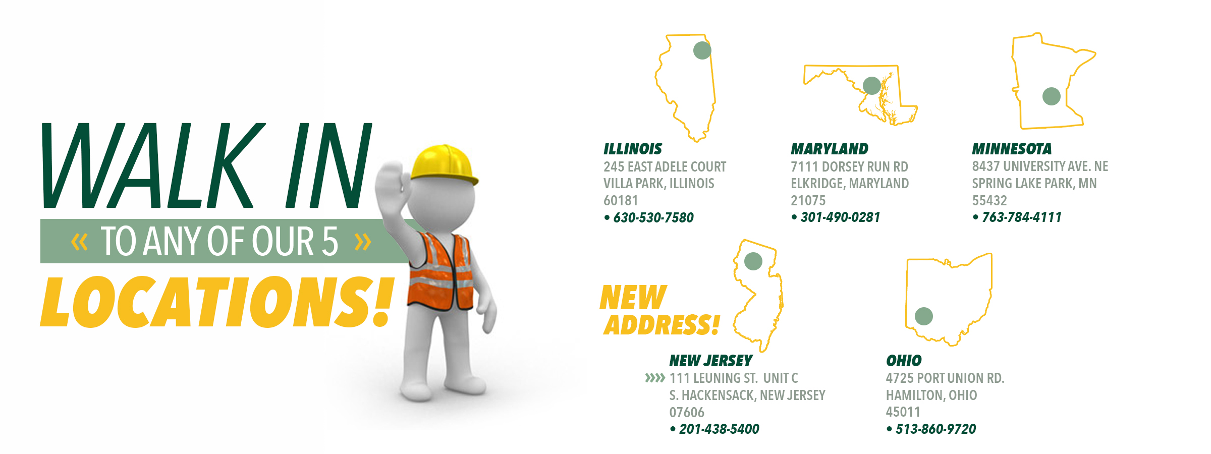 Industrial Ladder Locations 2020