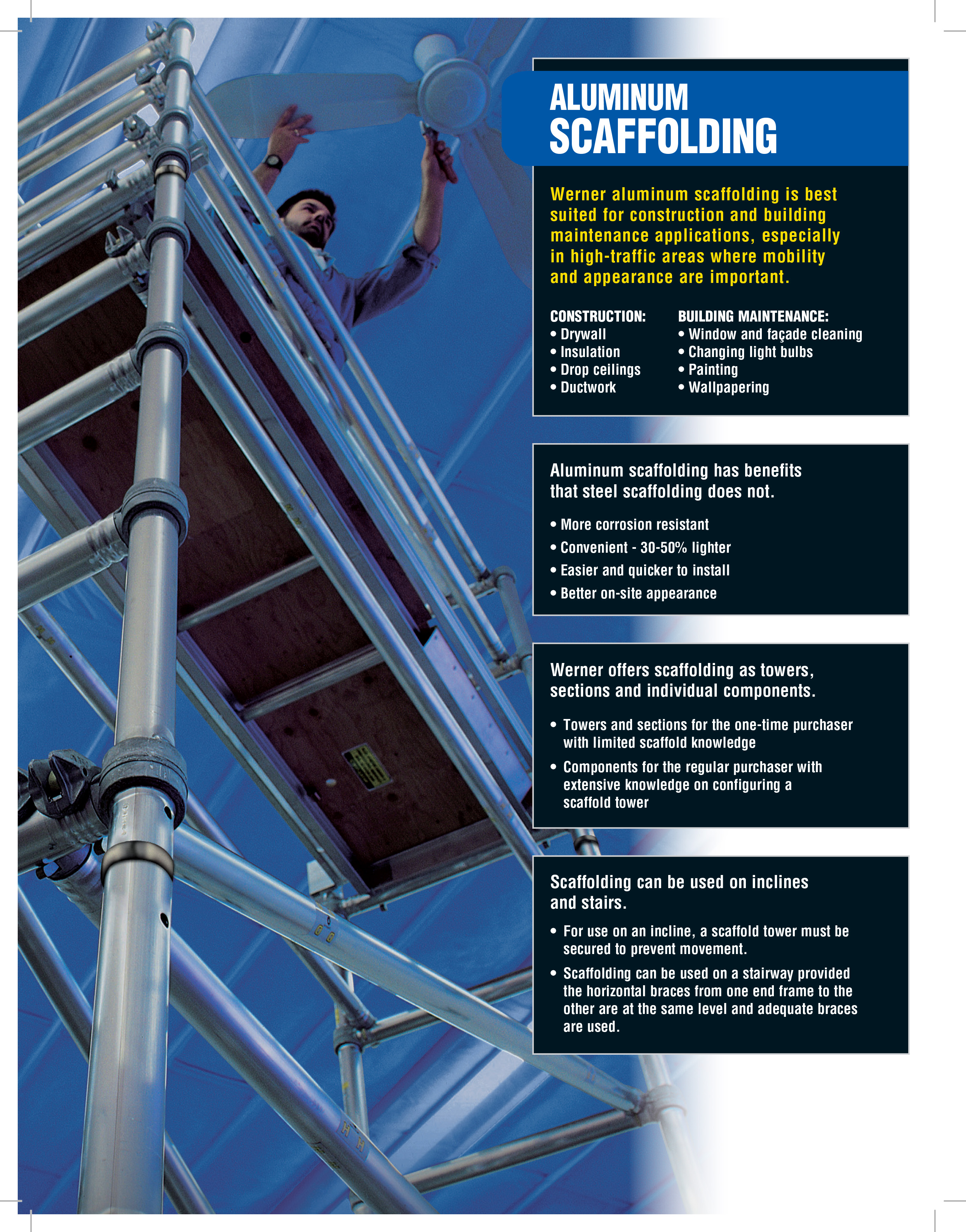 Werner Narrow Span Aluminum Scaffold Towers
