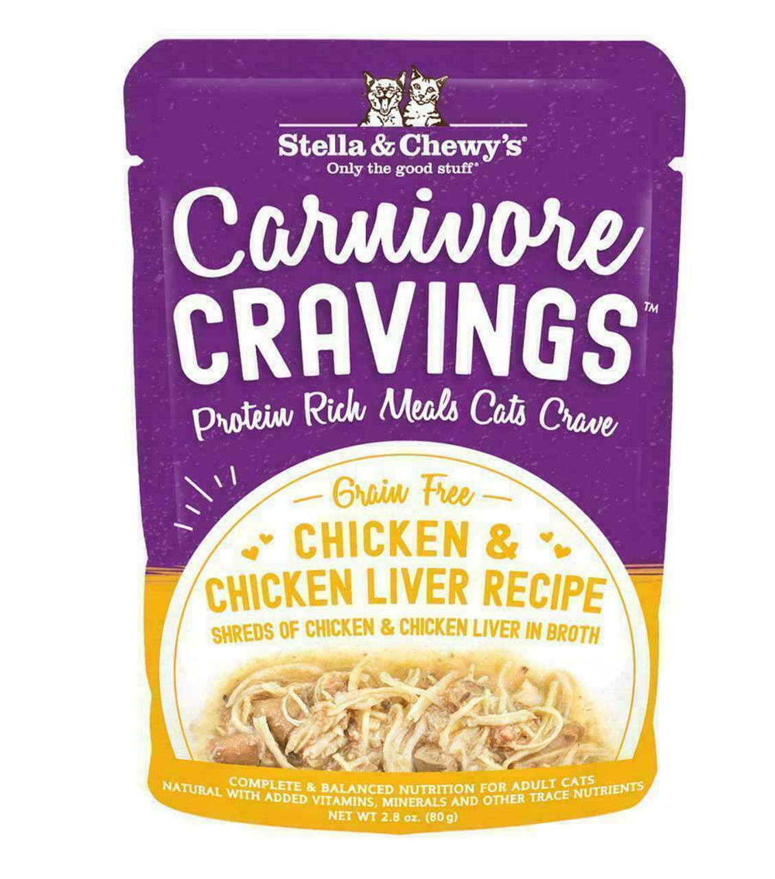 Stella Chewy S Cat Carnivore Cravings Chicken Chicken Liver Recipe 2 8 Ounces
