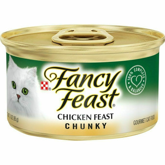 Purina Fancy Feast Grain Free Wet Cat Food; Chunky Chicken Feast - 3 oz. Can