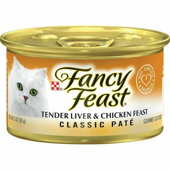 Purina Fancy Feast Grain Free Pate Wet Cat Food; Tender Liver & Chicken Feast - 3 oz. Can
