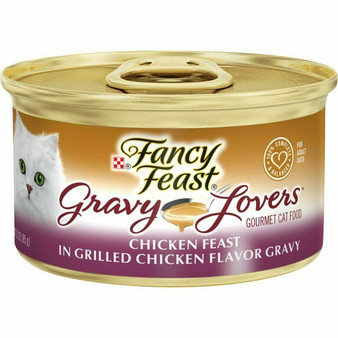 Purina Fancy Feast Gravy Wet Cat Food; Gravy Lovers Chicken Feast in Grilled Chicken Flavor Gravy - 3 oz. Can