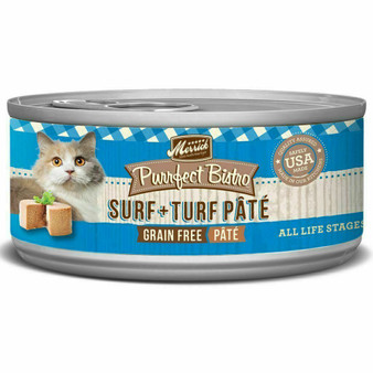 Merrick Purrfect Bistro Pate Wet Cat Surf n Turf