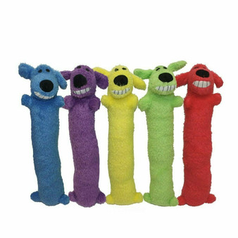The Loofa Dog comes in 5 assorted colors.
