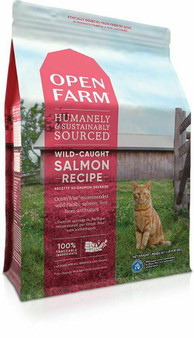 Open Farm Wild-Caught Salmon Dry Cat Food Packaging