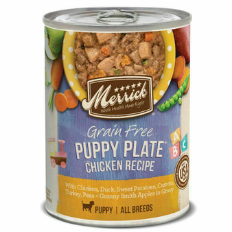 Merrick Puppy Chicken Pate Grain Free Can Dog Food