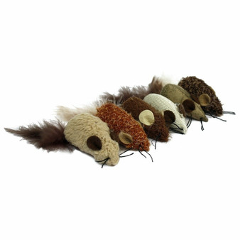 Yarn Mouse Cat Toy comes in 3 assorted colors