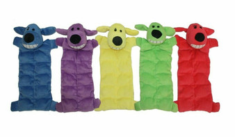 Loofa Squeaker Mat comes in 5 assorted colors