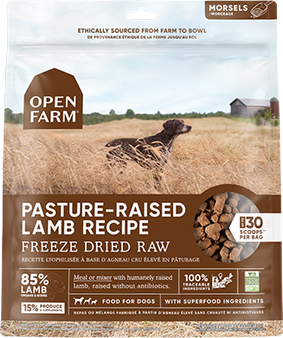 Pasture-Raised Lamb Freeze Dried Raw Dog Food | Open Farm | Front