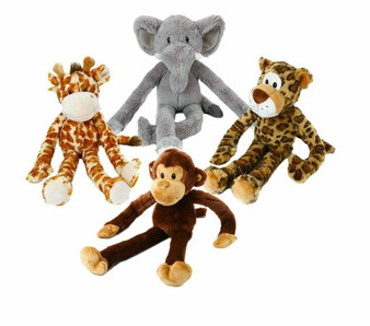 The Swingin' Safari characters come in 4 assorted characters with long arms and legs.