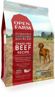 Open Farm Grass Fed Beef Dry Dog Food packaging