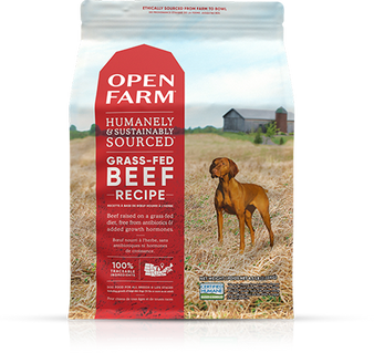 Open Farm Grass Fed Beef Dry Dog Food packaging - front